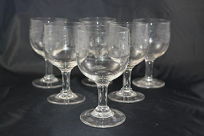 Lot De 6 Verres Graves Ancien Empire
