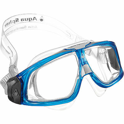 Aqua Sphere Seal 2.0 Clear Lens Adjustable Adults Swimming Mask Swim Goggles