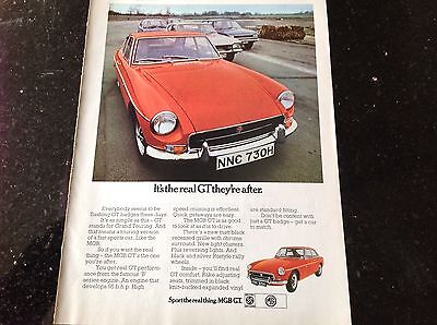 MGB GT Original 1970 A4 Advertisement