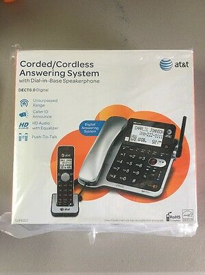 AT&T CL84102 DECT 6.0 Expandable Corded/Cordless Phone with Answering System