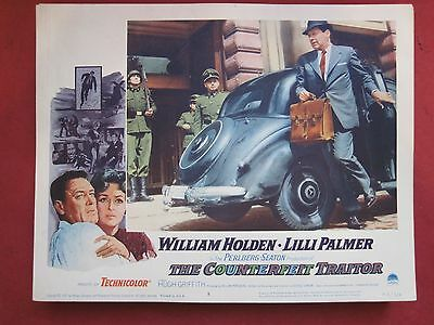 Lobby Card THE COUNTERFEIT TRAITOR 1962 WILLIAM HOLDEN - LILLI PALMER