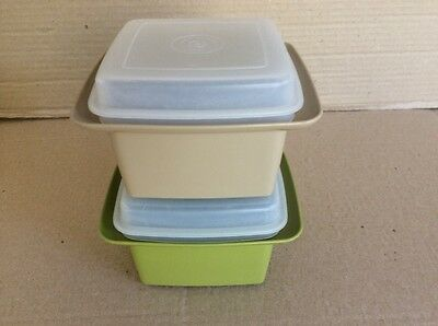 Tupperware VINTAGE CHEESE KEEPERS x 2 CONTAINERS - GOOD CONDITION