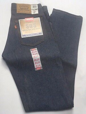 VTG Levis 505 Denim Jeans New Old Stock 1980s Stiff Raw 30 x 34 Made In USA