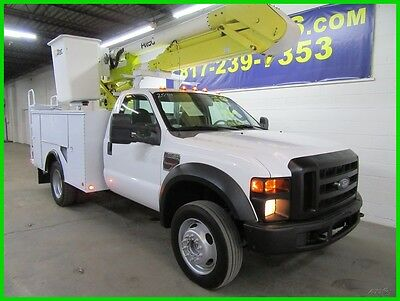 2008 Ford F-550  2008 F550 Reg Cab 4x4 Power Stroke Diesel Service Flatbed with Altec Bucket
