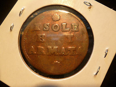 Italy Anonymous Coinage Isole Et Armata Soldi