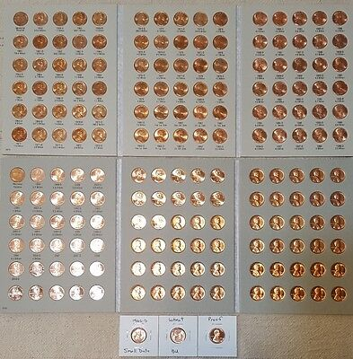 1959-2017 Lincoln Memorial Cent Collection P D S + Bu Wheat Penny & Proof