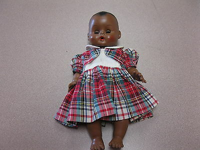 "Vintage Vogue Black Ginny Baby Doll Drink & Wet 11"" Tall Drink And Wet"