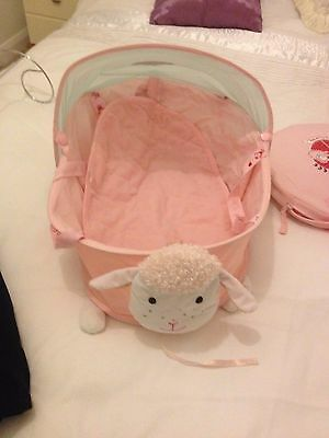 baby annabell dolls  fold away cot with bag