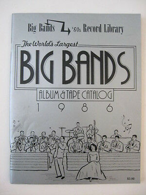 1986 The World's Largest BIG BANDS ALBUM & TAPE CATALOG Music Record Library