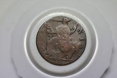 Usa Colonial Half Penny 1775 Counterstamped Old Coin A60 #z287