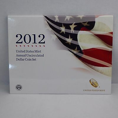 2012 US Mint Annual Uncirculated Dollar Coin Set w/ 2012 Silver Eagle (1)