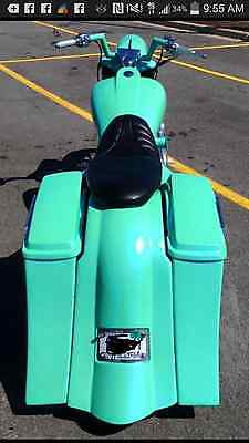 Harley Stretched Saddlebags overlay Fender Stock Lids Touring 09-13