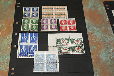 Canada 1963 Issues In Blocks Of 4 Fine M/n/h