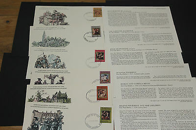 Grenada Great Art Stamps Of The World Series First Day Covers X 6 Lim Edition