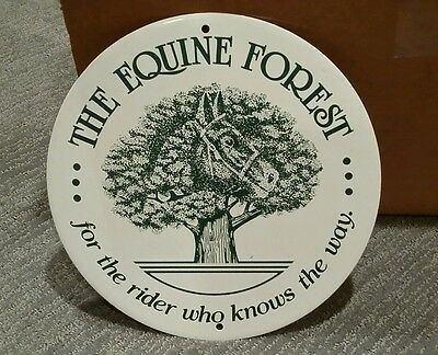 The Equine Forest sign for the rider who knows the way horse metal not porcelain
