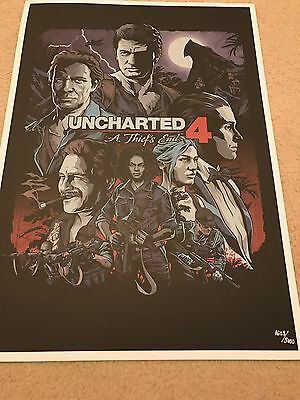 Uncharted 4 A thief's End  Limited Edition Poster