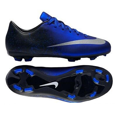 4bf493cdb082 NIKE CR7 MERCURIAL VICTORY V CR FG JUNIOR YOUTH SOCCER FUTSAL SHOES Deep  Royal.