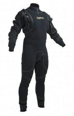 2016 Gul Code Zero 4mm Hybrid Semi Dry Suit Black GM0377