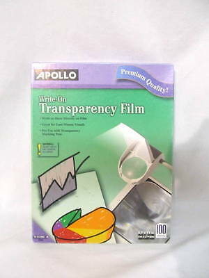 Transparencies: Write-On Clear Transparency Film Sheets Open Box Nearly 100