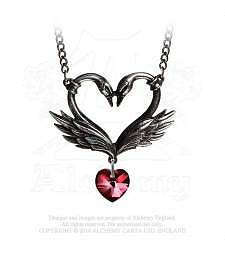 Alchemy Gothic The Black Swan Romance Pewter Necklace BRAND NEW