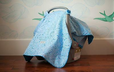 Carseat Canopy 100% Cotton Infant Car Seat Canopy Cover, Noa, NEW