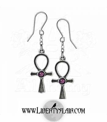 Alchemy Gothic Ankh Of Osiris Pewter Pair of Earrings BRAND NEW