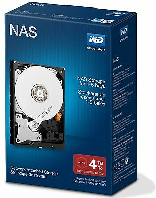 """WD Red 4TB NAS Hard Disk Drive 5400 RPM Class SATA 6 Gb/s 64MB Cache 3.5"""""""