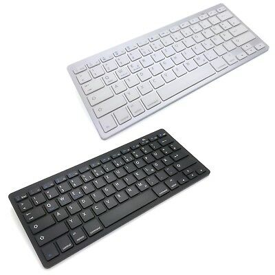 Bluetooth Keyboard QWERTZ Tastatur deutsch für PC Win Mac iOS Tablet Smartphone