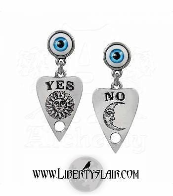 Alchemy Gothic Ouija Planchette Pewter Pair of Earrings BRAND NEW