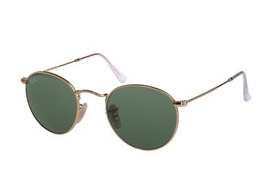 Ray-Ban RB3447 001 Round Metal Gold Frame Green Classic 47mm Lens Sunglasses