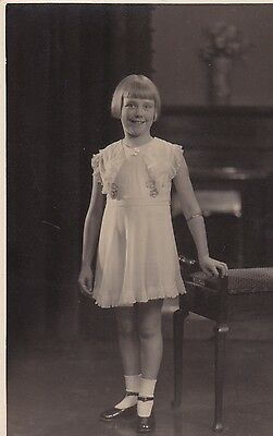 Original Vintage  Real Photo  Postcard, Very Pretty Young Girl,  (3).