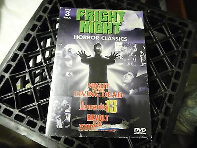 Fright Night Horror Classics-New-3 pack DVDs Dvd