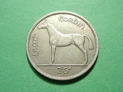 IRELAND 1963 1/2 Crown Gorgeous Large Coin