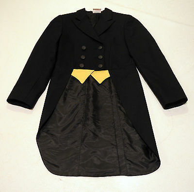 Grand Prix shadbelly black hunt coat show jacket KIDS GIRLS 12 $475