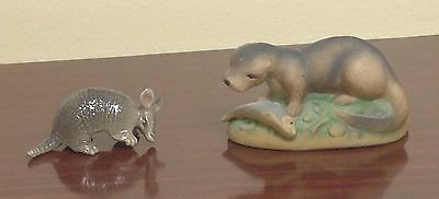 Hagen Renaker Armadillo and unknown type Otter