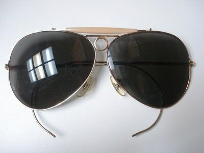 Great Condition Vintage American Optical Aviator Shooter Sunglasses