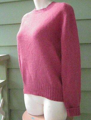 ABERCROMBIE & FITCH PINK SWEATER PURE SHETLAND WOOL Women's Sml Made in SCOTLAND
