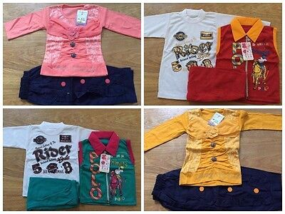 2 & 3pcs Newborn Baby Boy & Girls Clothes T-shirt Tops Pants Overall Outfit Set