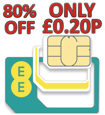Official EE UK 4G Pay As You Go Multi Sim Card (Standard Size / Micro / Nano)
