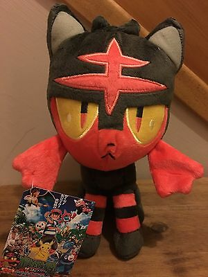 Pokemon Sun & Moon Plush Teddy - Litten Soft Toy - Size: 20cm - NEW & Tagged