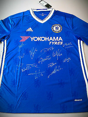 Team Signed Shirt jersey -  Chelsea FC  2016/2017