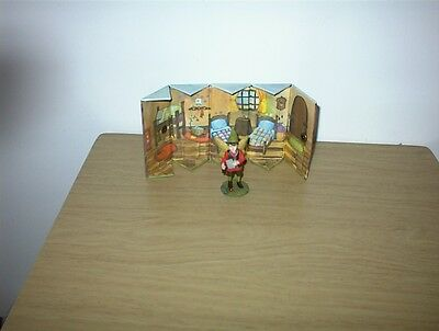 "2004 Lemniscate Hand Painted Original Willow 3 1/8"" With Fold Up House 4.25"""