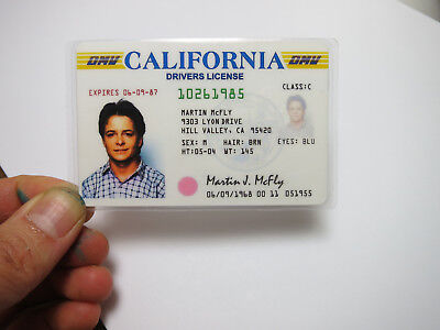 Back to the future drivers license
