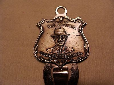 Rare** Home Of Will  Rogers Claremore, Okla Metal Bookmark