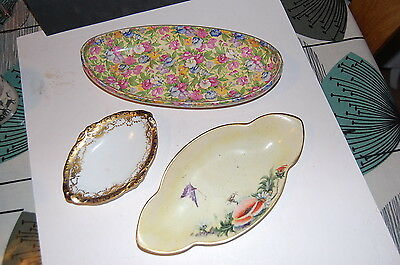Royal Winton 'Sweet Pea' Dish & 2 other plates