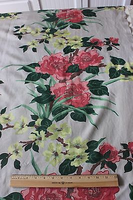 "Vintage Printed Chinoiserie Rayon Faille Textile Fabric c1930~2yds 4""L X 46""W"