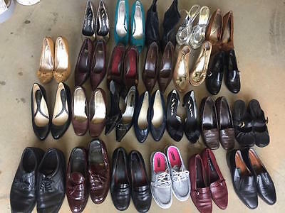 Mixed Lot Shoes Womens 22 + 2 Mens Footwear Used Heels Boots Great for RESALE