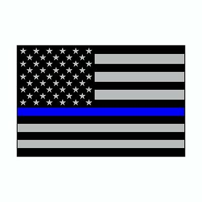 Thin Blue Line US American Flag Support Police Vinyl Dog Car Decal Sticker