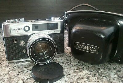 Yashica Lynx 5000E 1c 35mm Rangefinder Camera OVERALL CLEAN / WORKING