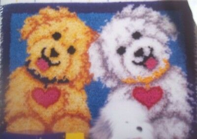 BICHON FRISE LABRADOODLE golden doodle dogs LATCH hook RUG HOOKING valentine KIT